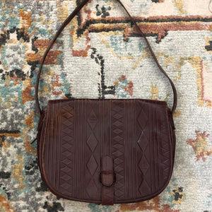Fendi Handbag 1960s Vintage Leather